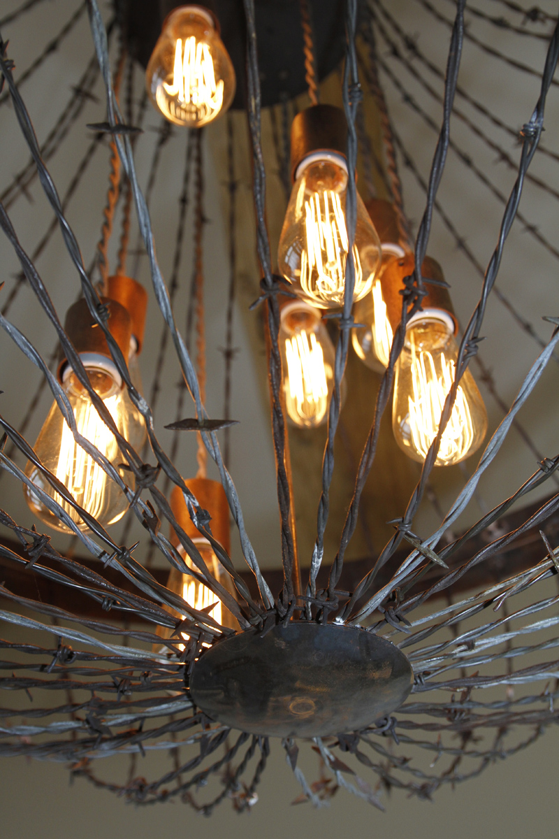 Barbed Wire Lighting Fixture Data Wiring A Chandelier Ironglass Rh Decorating Ideas Basket
