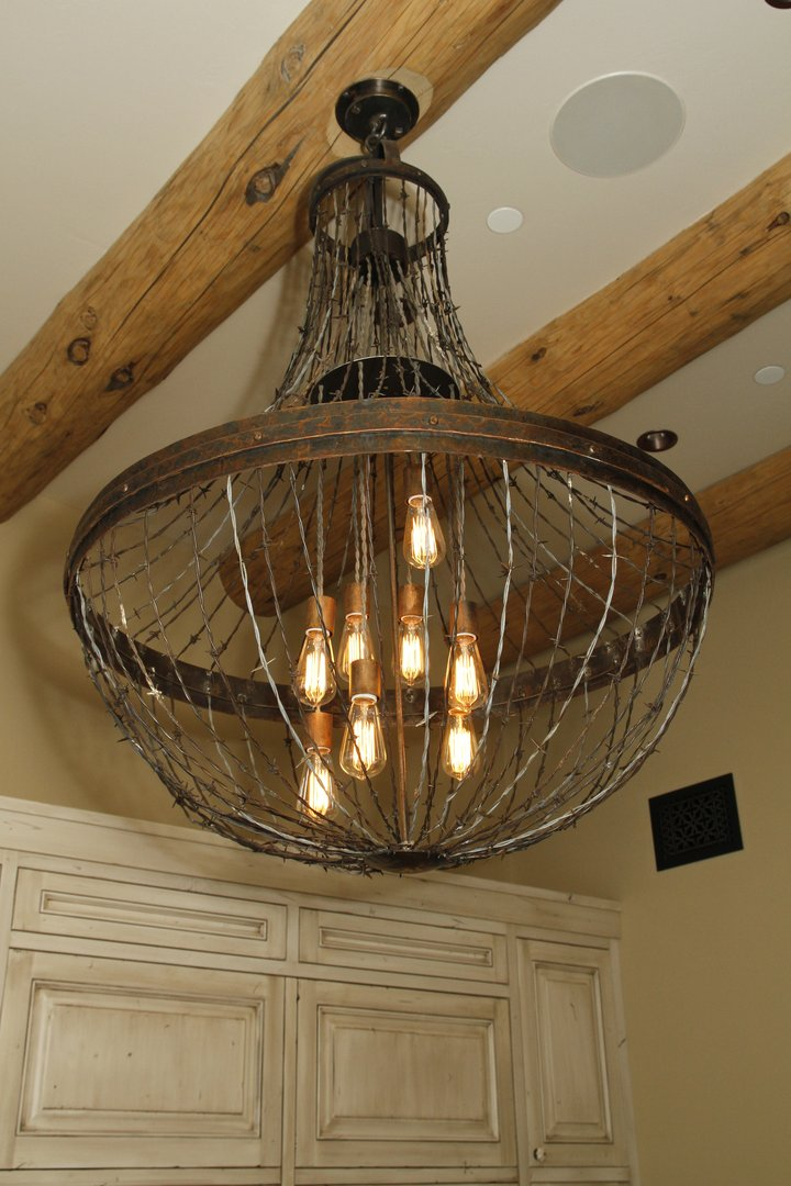 Ironglass lighting barbed wire chandelier aloadofball Image collections